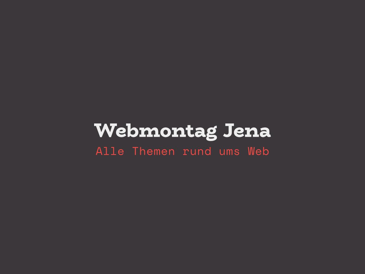 Webmontag Jena Beitragsbild